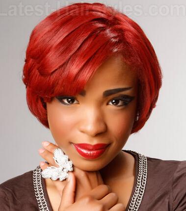 Red Layered Haircut