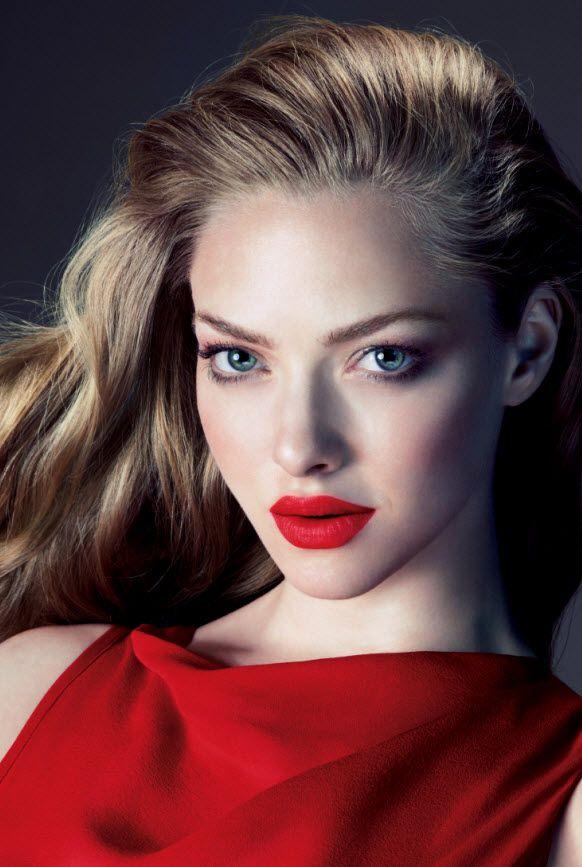 Red Lips on Amanda Seyfried