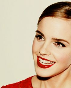 Red Lips on Emma Waston