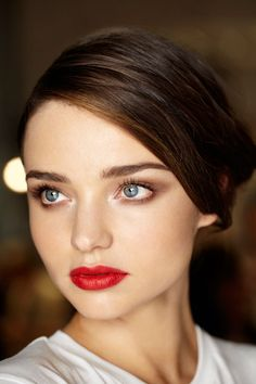Red Lips on Mirranda Kerr