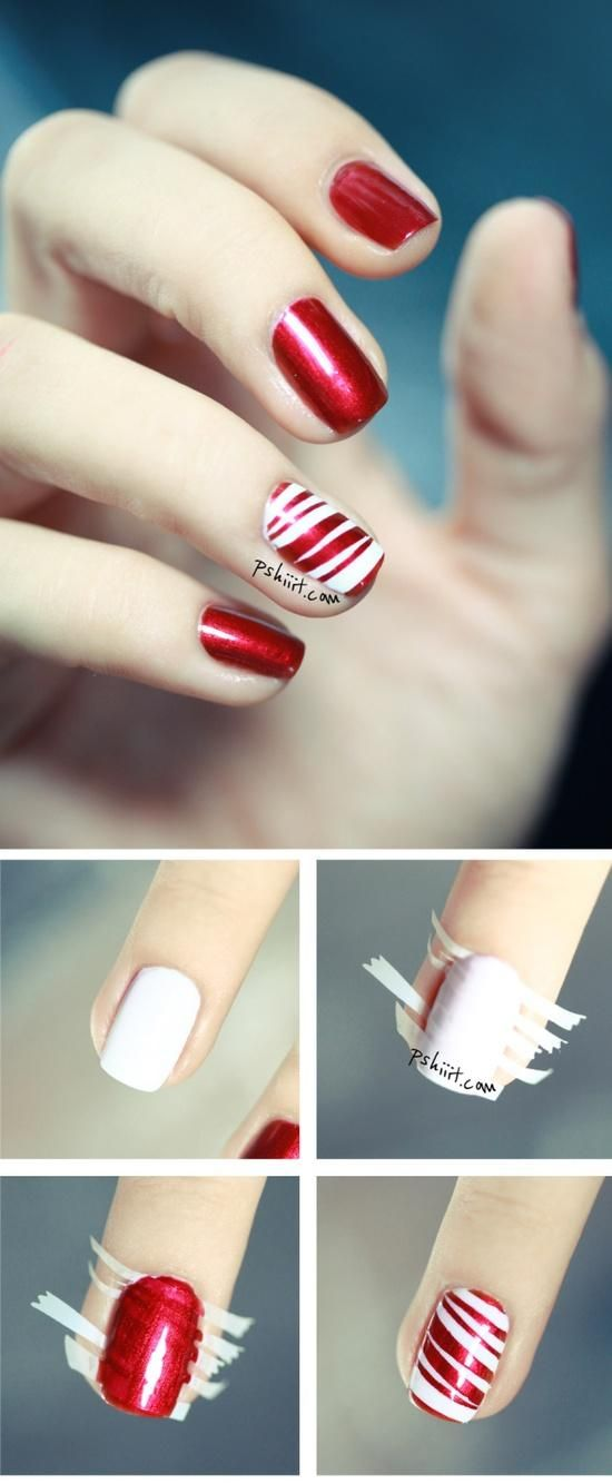 Red Scotch Nail Art