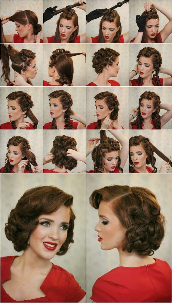 50s pin up hairstyles : Retro Hairstyle Tutorials