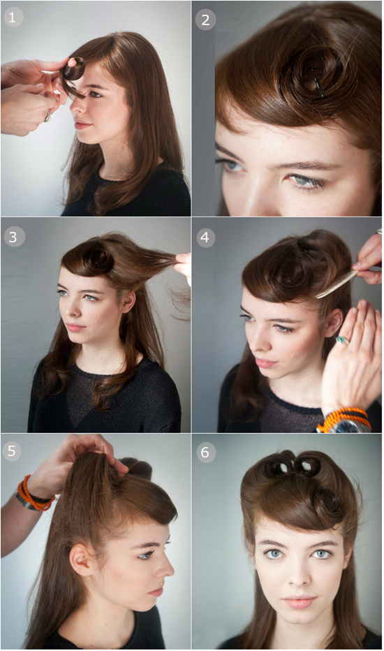 Retro Half-up Half-down Hairstyle