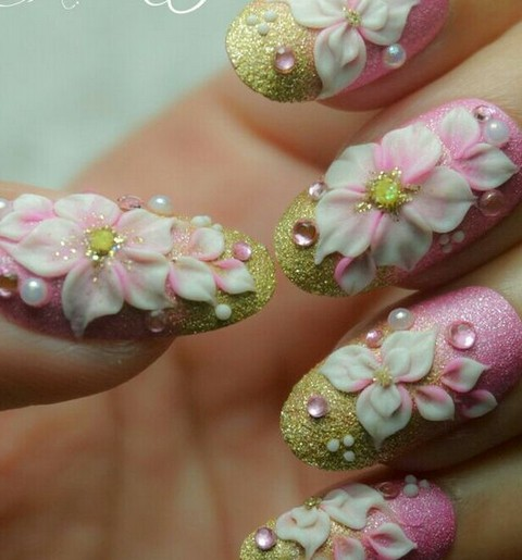 Romantic 3D Nails