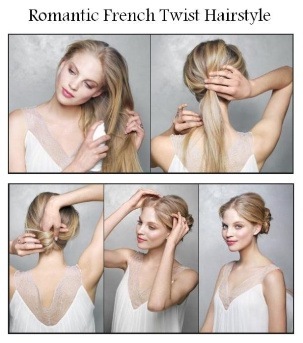 Romantic French Twist Hairstyle Tutorial