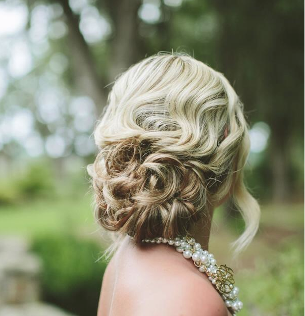Romantic Updo Hairstyle for Wedding