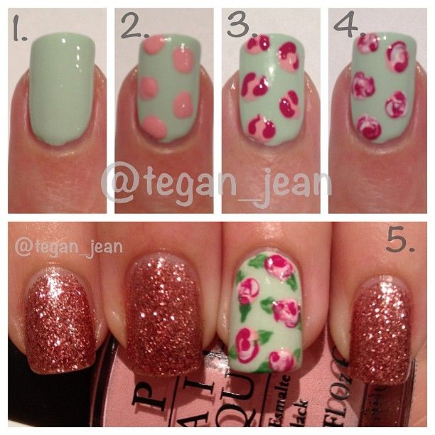 Rose Nail Art Tutorial: Rose Nail Tutorials You Must Love For Summer
