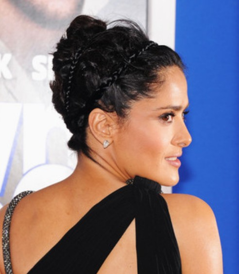Salma Hayek French Twist/Getty Images