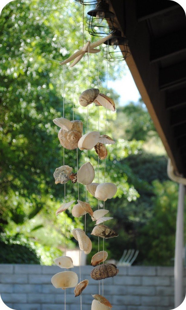 Easy diy projects diy seashell ideas pretty designs for Shell wind chimes diy