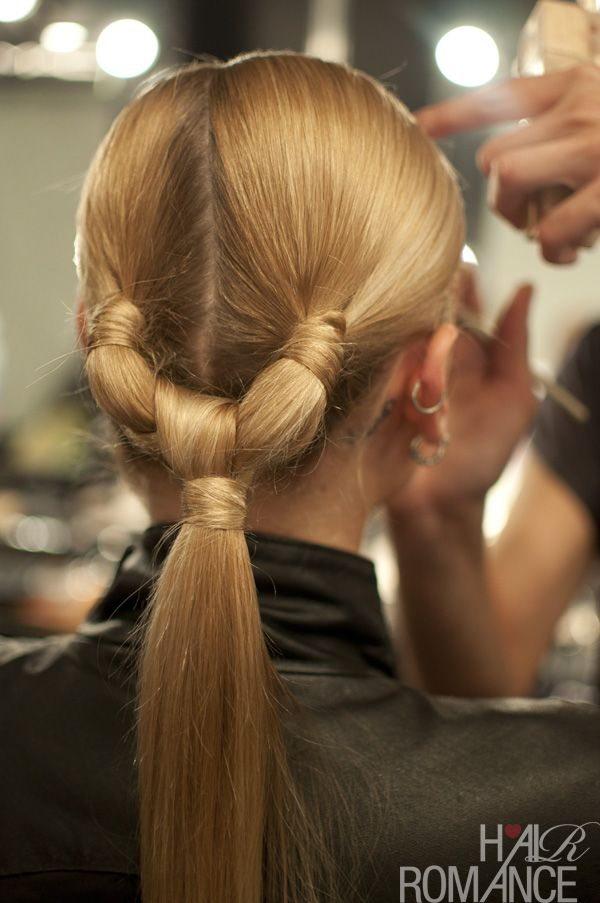Sectioned Ponytail