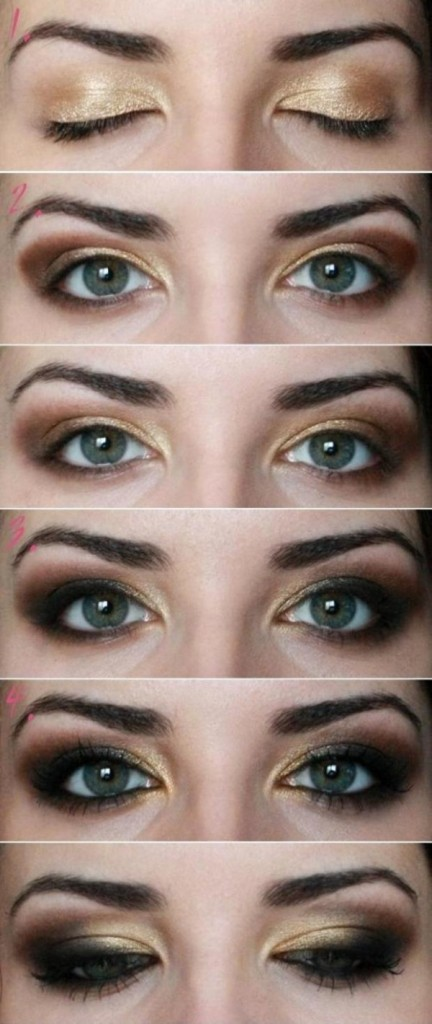 Sexy Brown and Golden Makeup Tutorial