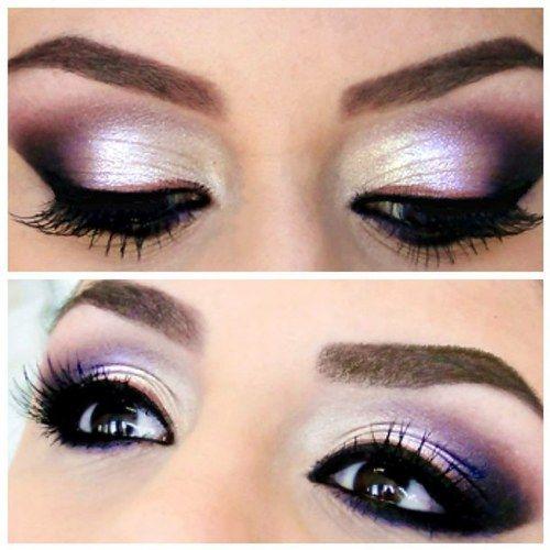 Shimmery Purple Eye Makeup