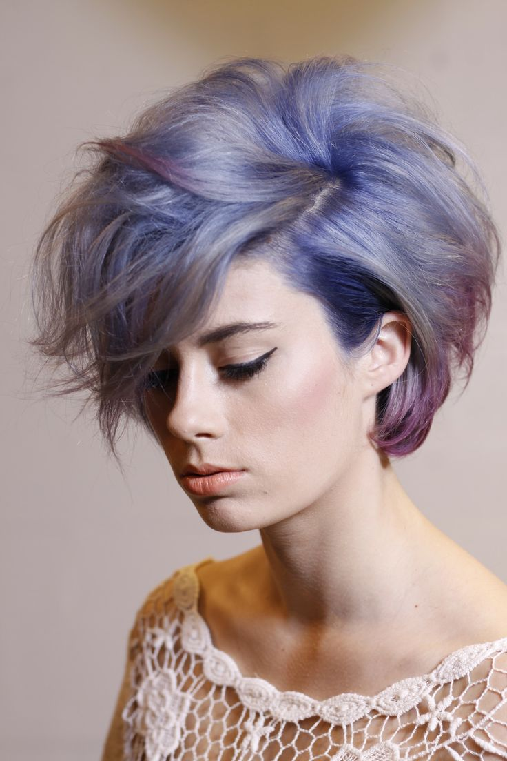 Short Hair with Purple Highlights