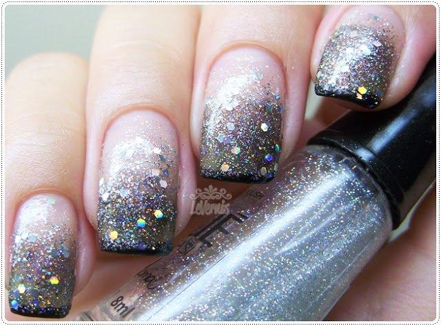 Silver Embellished Nails