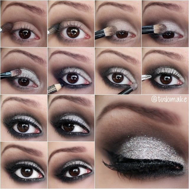 Silvery Shimmer Eye Makeup Tutorial