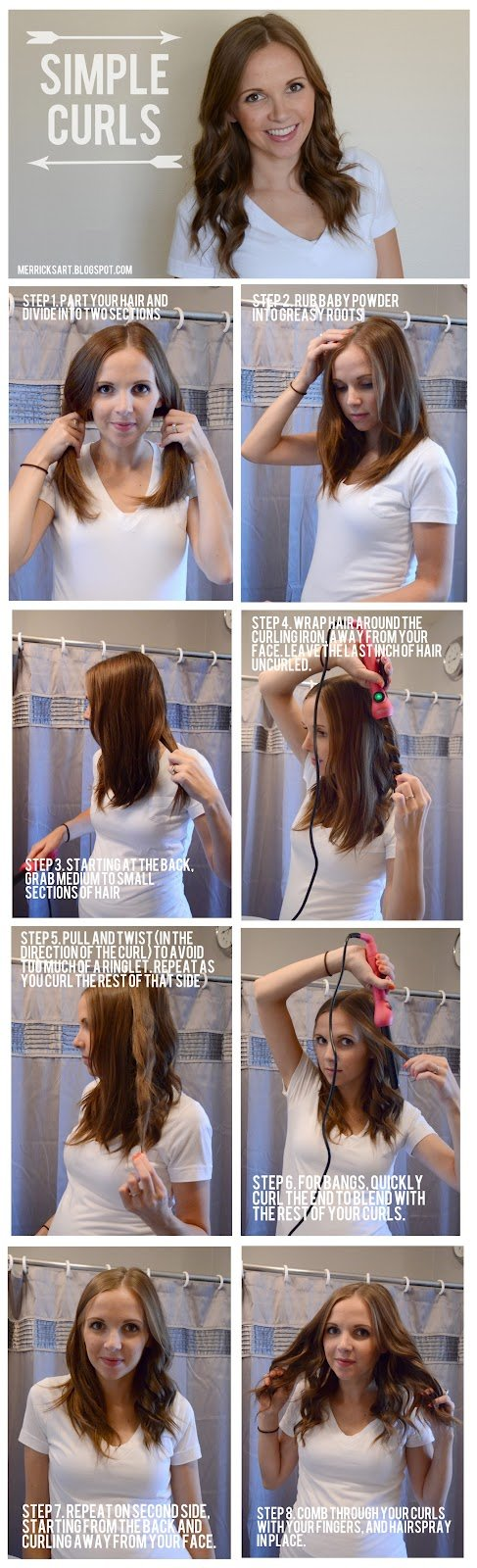 Simple Curly Hairstyle Tutorial