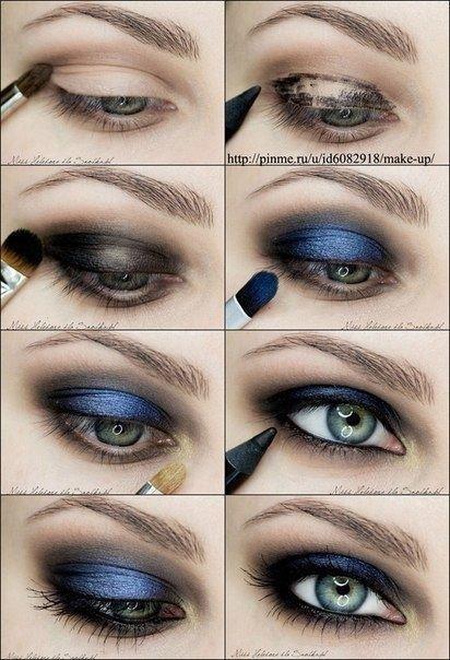 Smoky Blue Eye MakeupTutorial