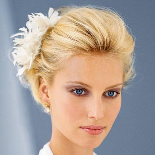 Sophisticated Back-teased Hairstyle for Wedding