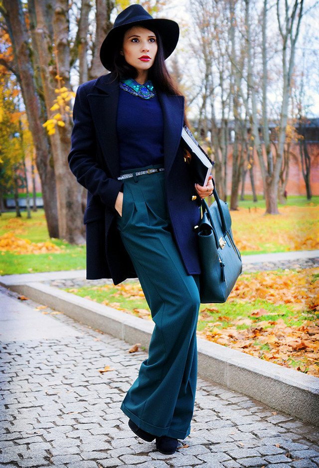 Sophisticated Blue Outfit Idea
