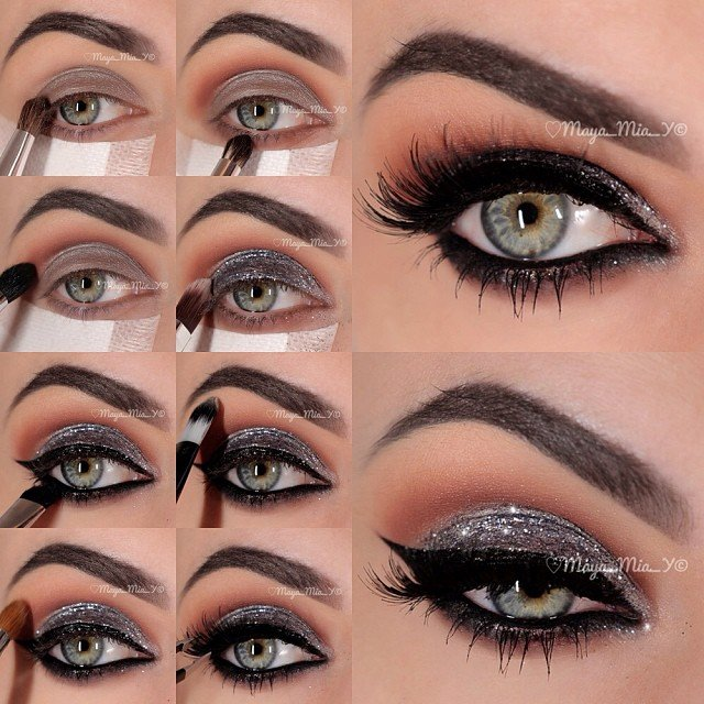 professional glamorous eye makeup tutorials pretty designs. Black Bedroom Furniture Sets. Home Design Ideas