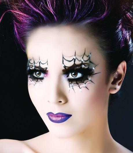 Spider Purple Lips Makeup
