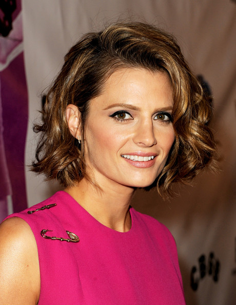 Stana Katic Curled Out Bob