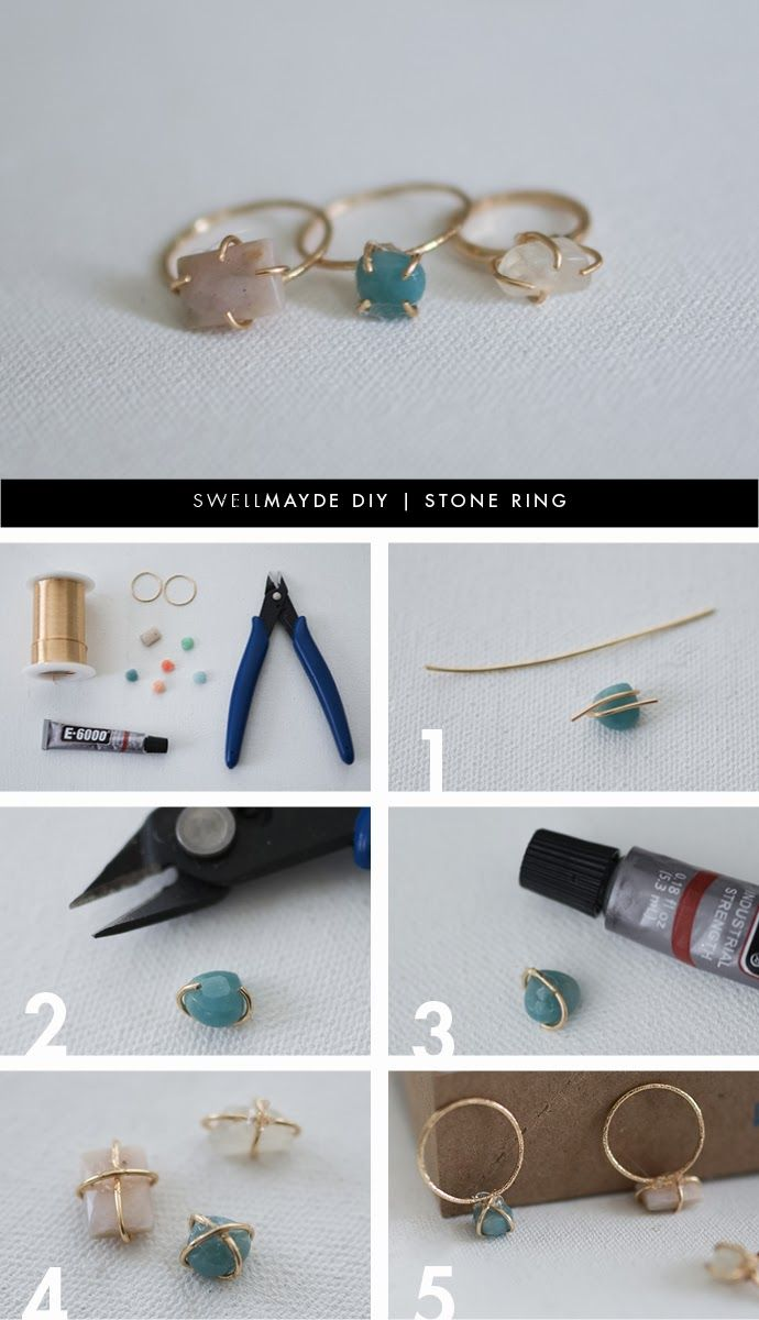 Diy stone ring projects for girls pretty designs for Diy stone projects