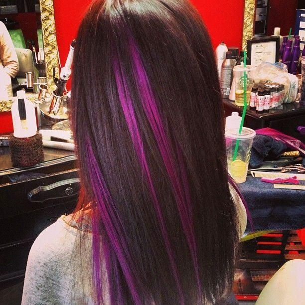 Purple highlights for summer pretty designs straight hair with purple highlights pmusecretfo Images