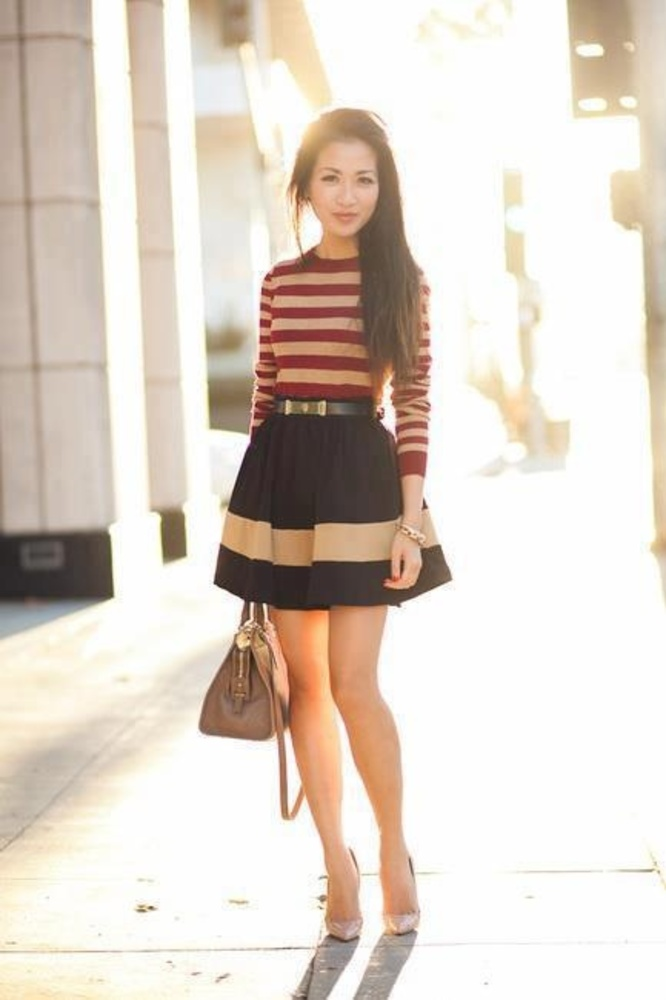 Stripe Outfit Idea for Spring