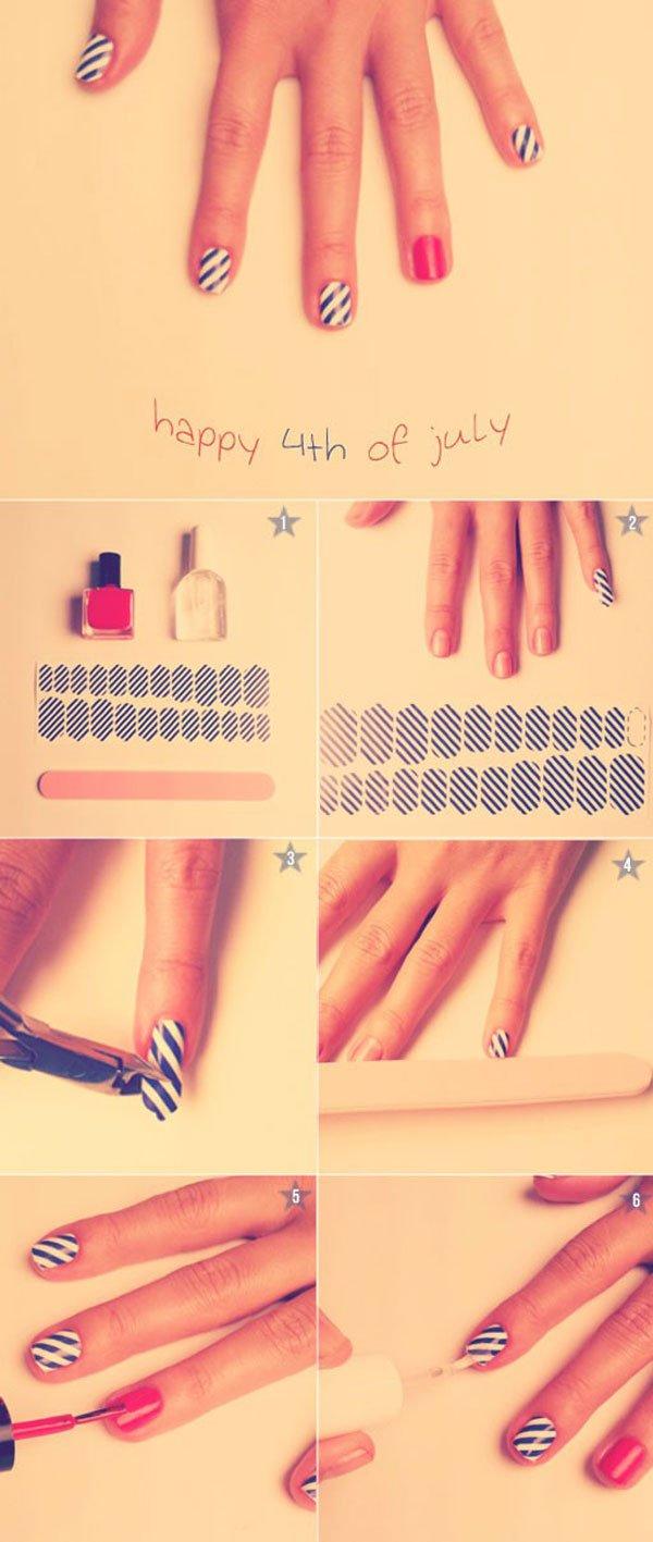 Striped Nail Design