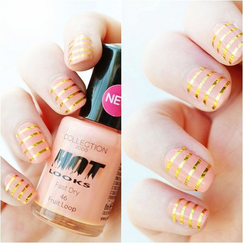 Striped Scotch Nail Art