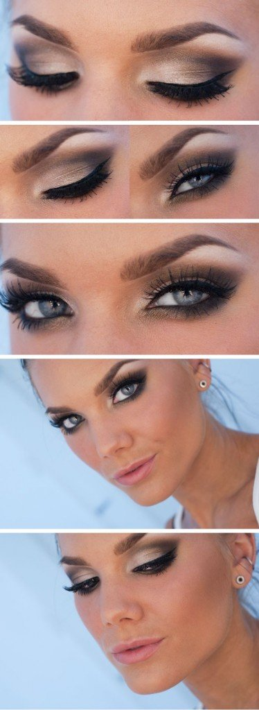 Stunning Black Smoky Eye Makeup Tutorial
