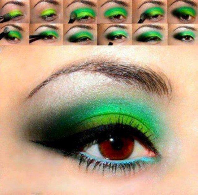 Дымчатый макияж или смоки айс для голубых карих зеленых