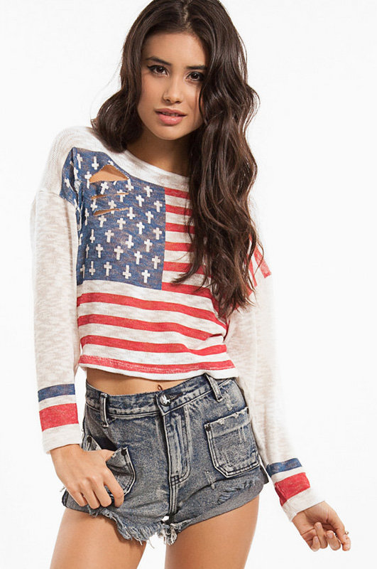 Stunning Shirt with Stars and Stripes