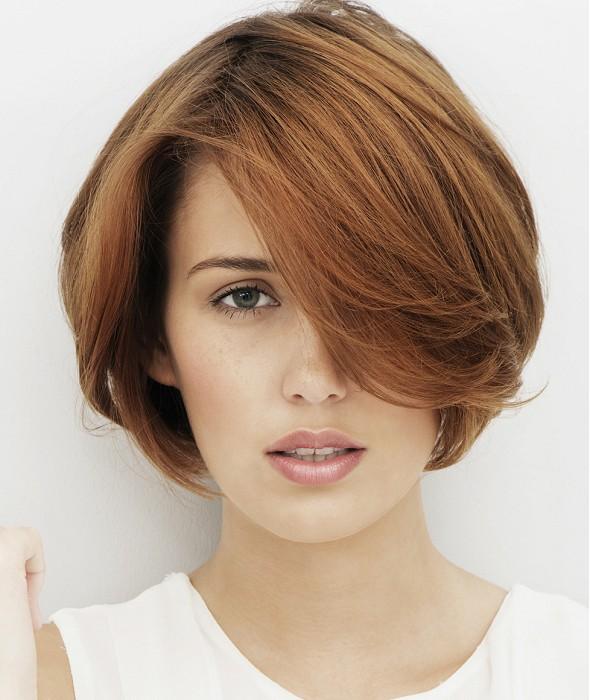 Short textured haircut for women
