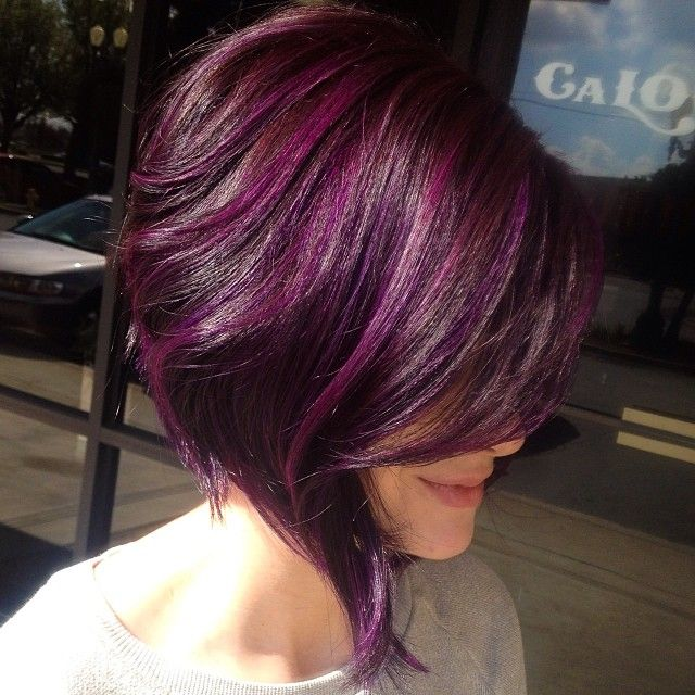 Purple highlights for summer pretty designs - Violet prune couleur ...