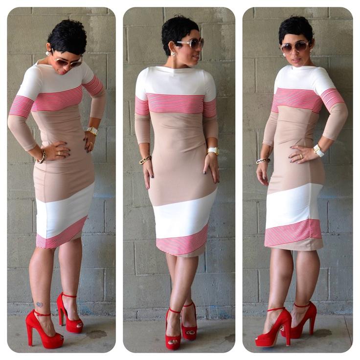 Stylish Colored Block Dress