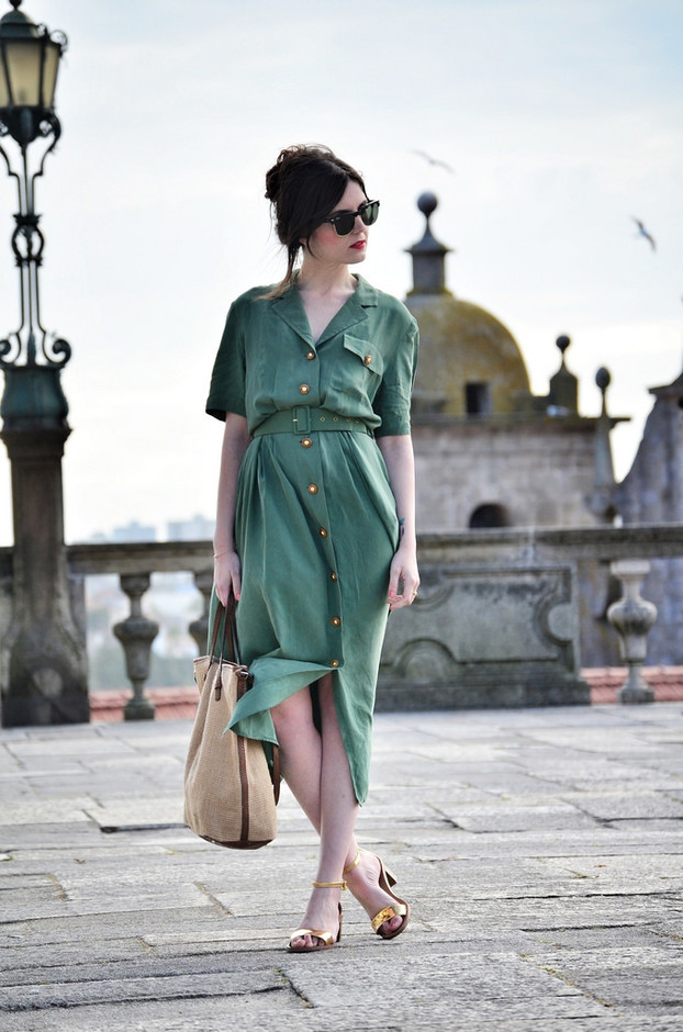 Stylish Green Dress Outfit