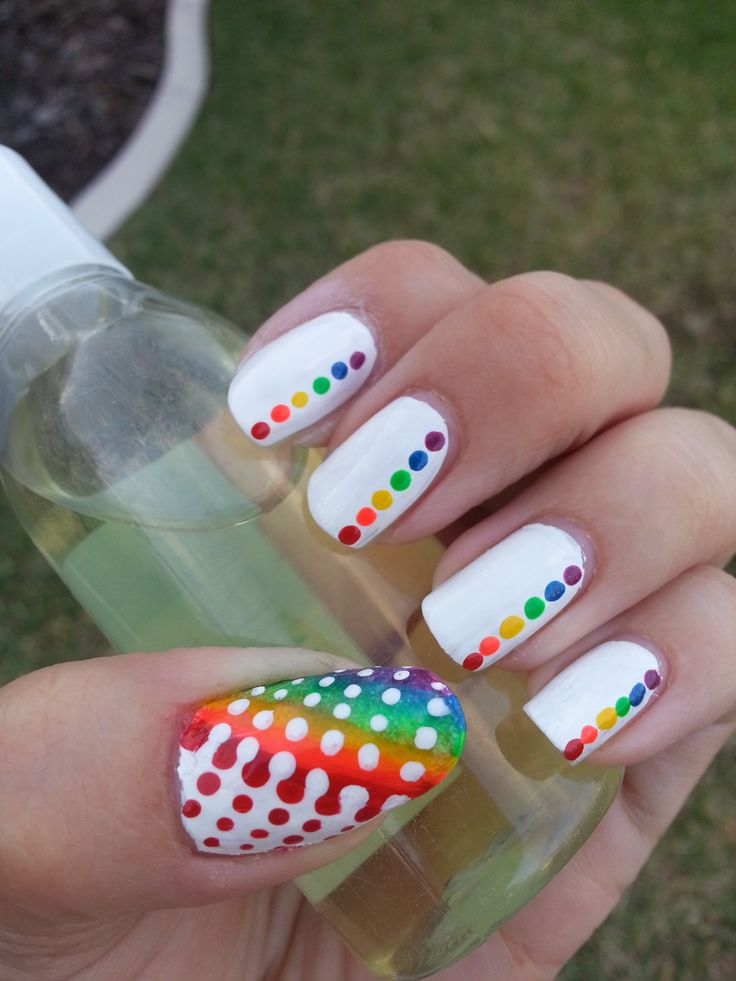 Stylish Rainbow Dots