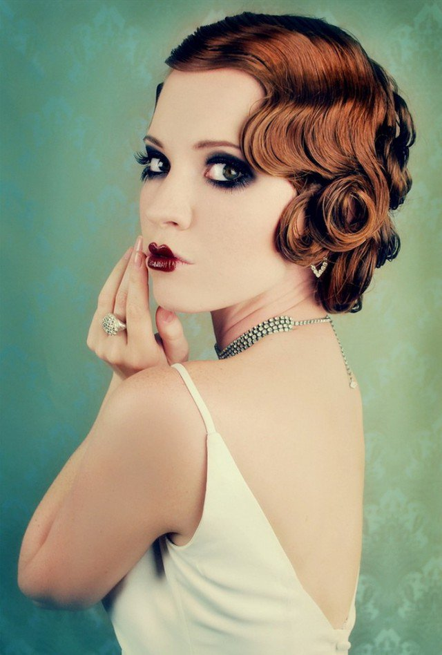Flapper hair tutorial for short hair