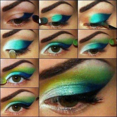 Teal Ombre Eye Makeup Tutorial
