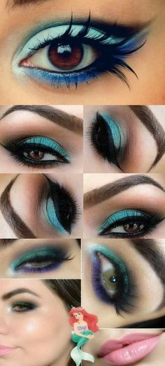 Teal Smokey Eye Makeup