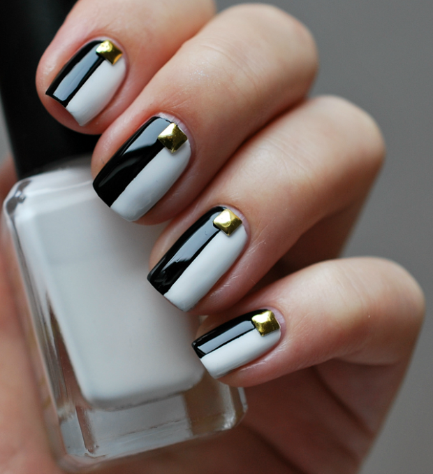 Simple Two Tone Nail Designs