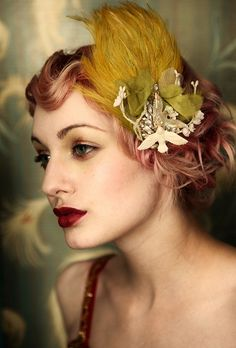 Vintage Makeup Look With Hair Accessory