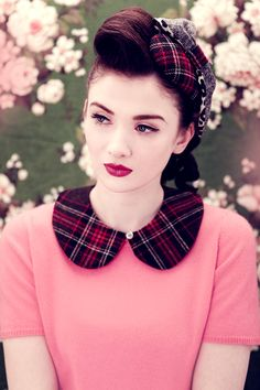 Vintage Makeup Look for Young Girls
