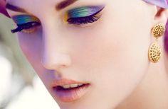 Vintage Peacock Inspired Eye Makeup Look