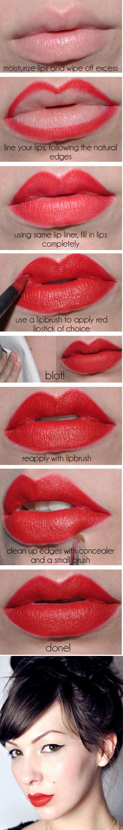 Vintage Red Lips Tutorial