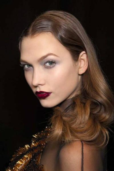 Vintage Styled Burgundy Lips