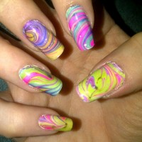 Water Marble Nails
