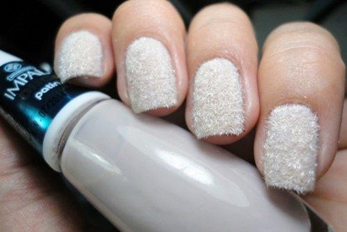 White Embellished Nails